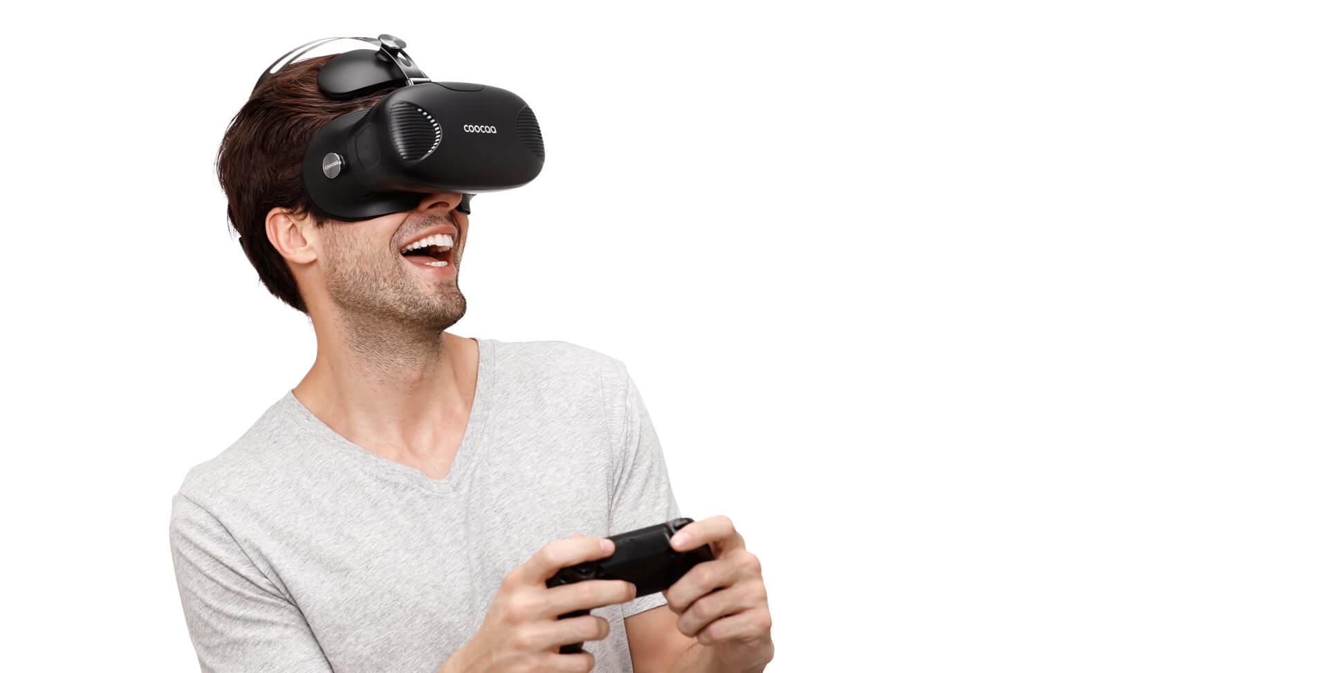 佩戴方式-酷开VR一体机(黑)