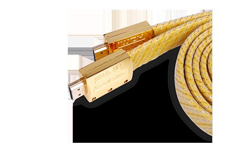 土豪金高清HDMI线