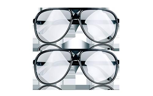 不闪式3D眼镜两副装